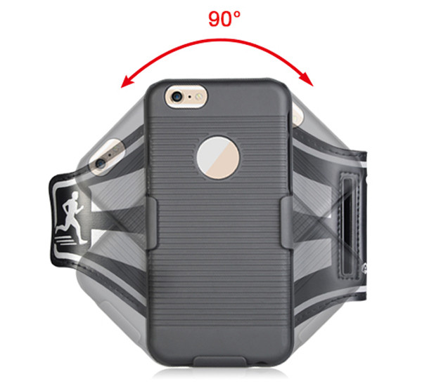 Running jogging cell phone sports armband case for iPhone 6 6 Plus 7 7 plus