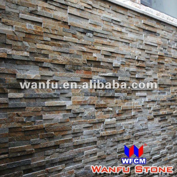 granit schiefer dekorative steinwand fliesen schiefer. Black Bedroom Furniture Sets. Home Design Ideas