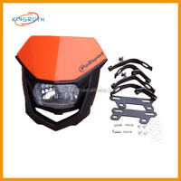 Unique Cool Fashion Carbon 12v/35w dirt bike motorcycle universal vision headlight