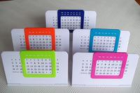 Plastic and metal Perpetual desk Calendar