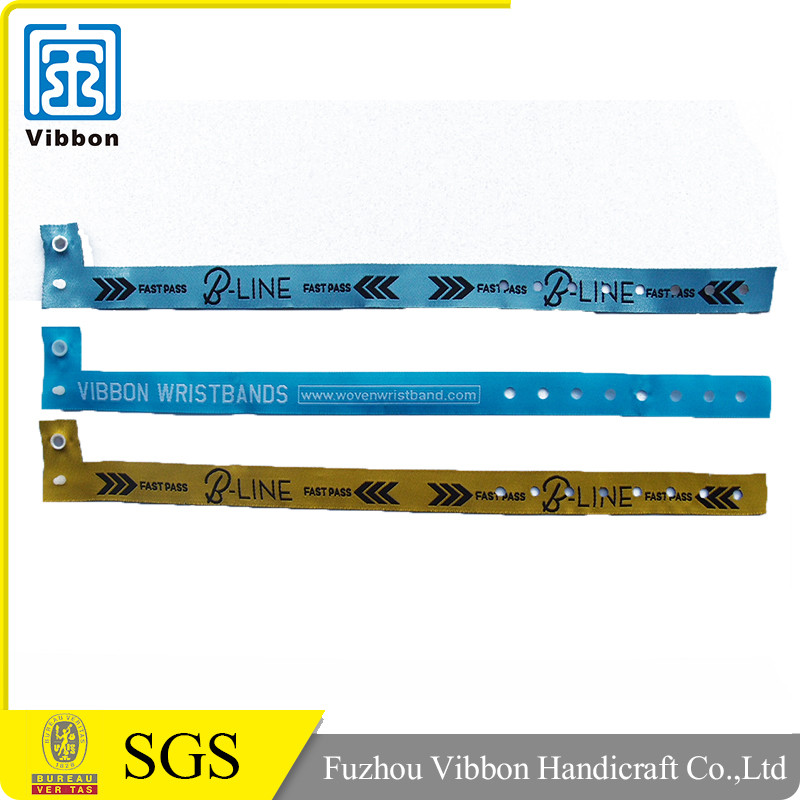 Custom made promotional new design jaquard woven fabric band