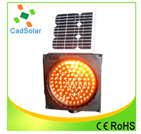 strobe led solar caution lamp flashing traffic safety warning light