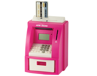 2016 Creative Intelligent ATM shape saving boxes bank ATM coin bank with counting