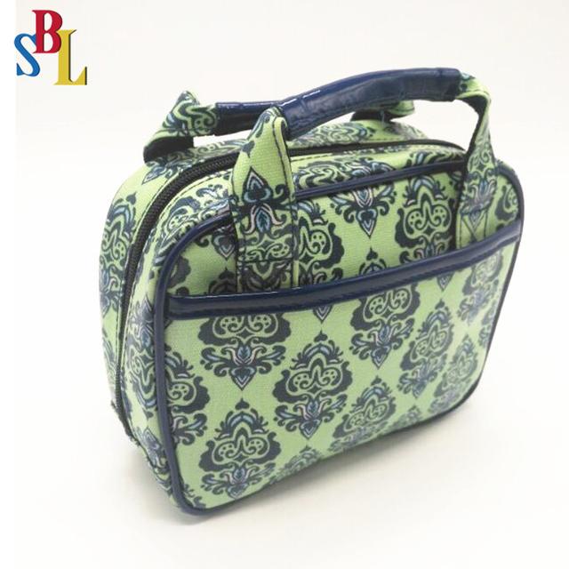 Travel PU cosmetic bag Makeup Organizer toiletry wash handle bag
