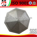 Customized shot blasting aluminum sand casting round fence post cap
