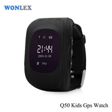 Wonlex cheap gps wifi 3g mobile phone Q50 sports smart kids tracker watch wrist