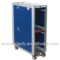 Aircraft Inflight Foldable Trolley Folding Cart