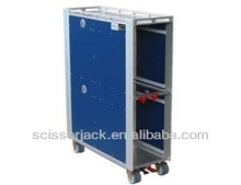 Aircraft Inflight Foldable Trolley; Folding Cart for Aviation, Airline :7597 Atlas Full Size Airline Meal Trolley