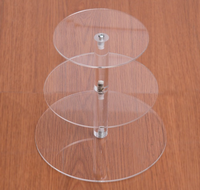 Round shaped cupcake holder 3,4 tiers crystal clear acrylic cake stand