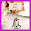 Charming Silver Bell Place Card Holder Wedding