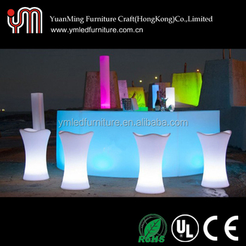 YM Wholesale Illuminated Outdoor Home Used LED Bar Furniture