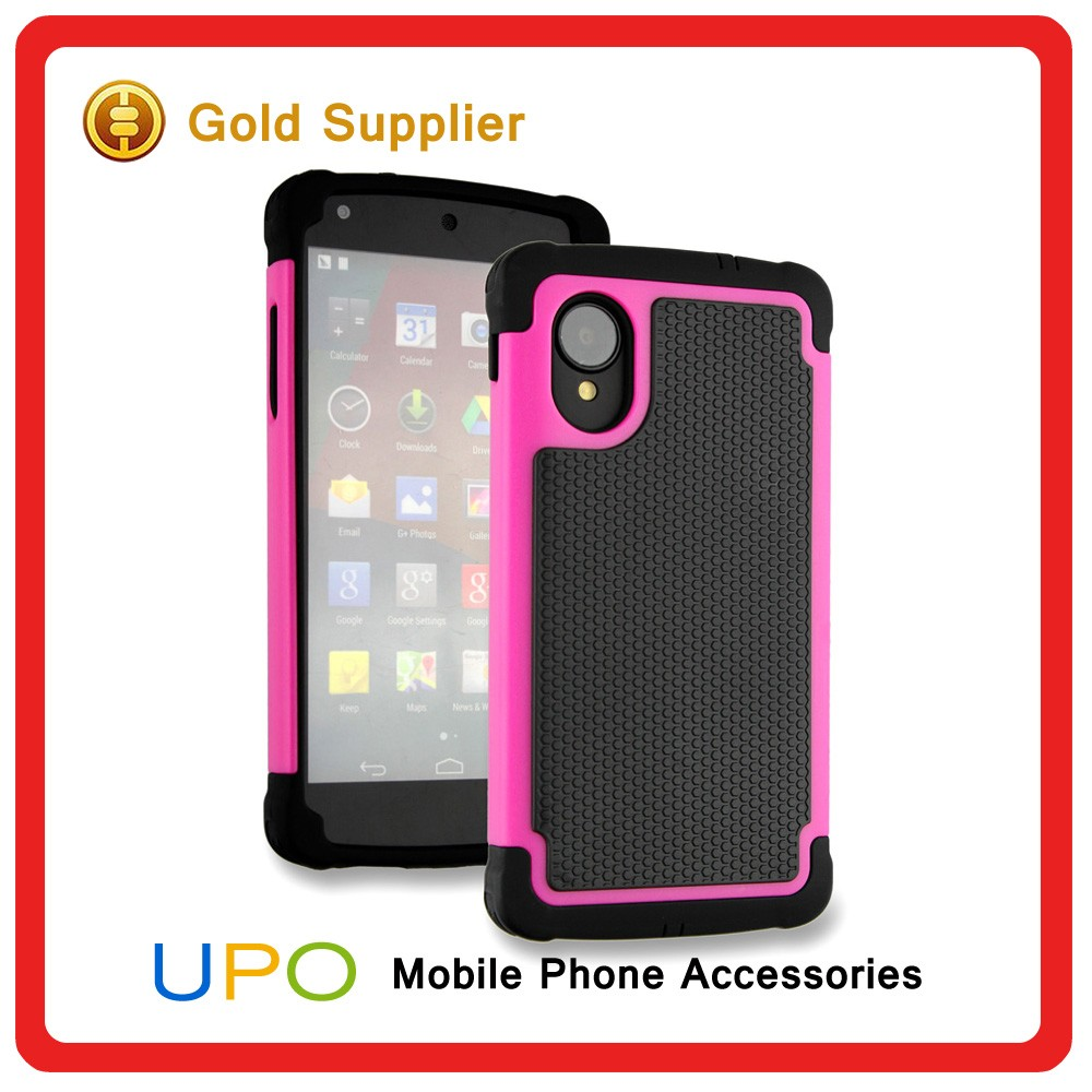 [UPO] 3 in 1 Hybrid Rugged Rubber Hard Plastic Skin Protector Case Cover for LG Nexus 5