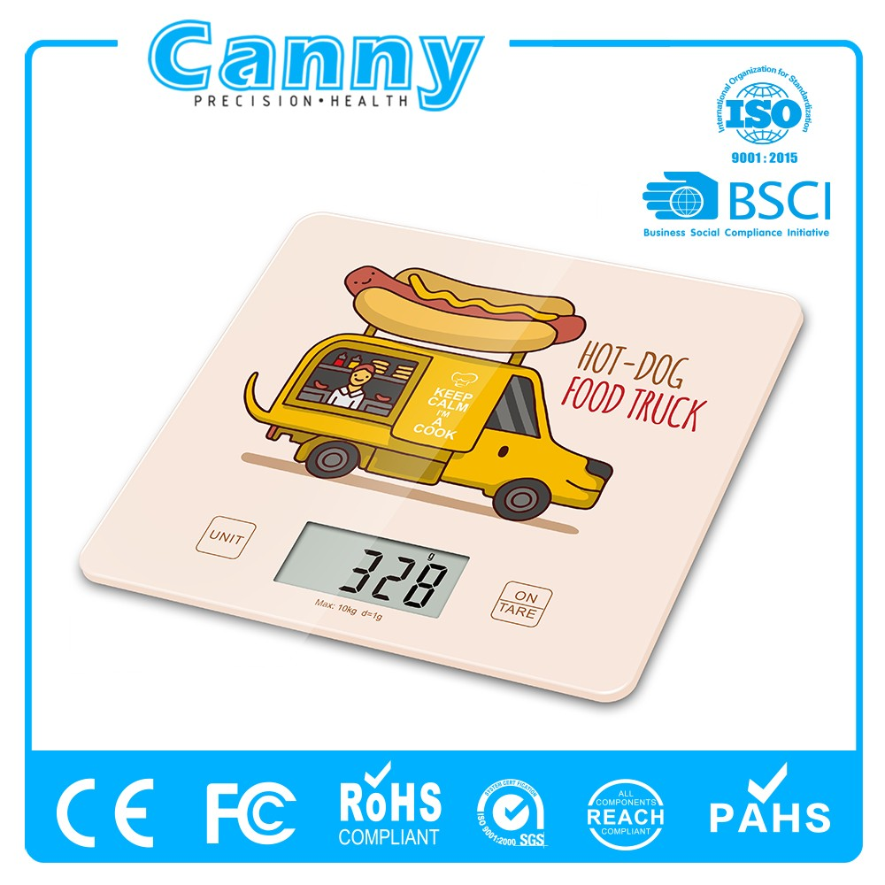 2017 color-printing digital kitchen food scale