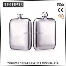 Wholesale personalized luxury printing logo optional hip flask stainless steel