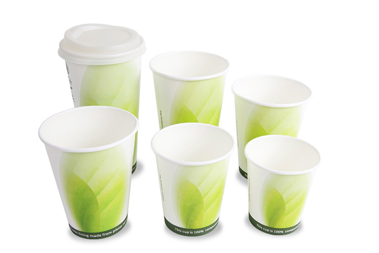 Hot drink color paper cup 10oz single wall tea cup