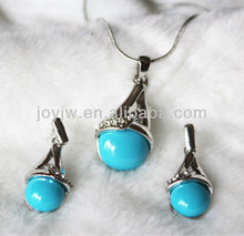 Hot new design fashion turquoise wedding jewelry sets