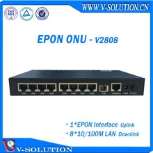 Ftth termination epon 8FE onu box compatible with HuaweI/ZTE OLT
