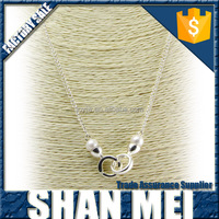 2016 Alloy Chain With Dual Alloy Buckle Pearl Decoration Pendant Necklace