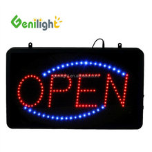 battery powered custom open closed today business plastic LED sign board