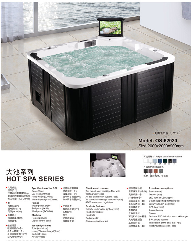 Trade Assurance Guangzhou Canton Fair Enclosed massage whirlpool steam shower room