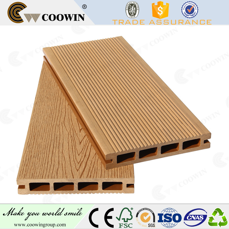 WPC thermo wood composite green decking materials