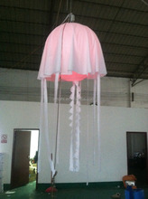 Valentine' Day decoration giant event led wedding stage inflatable jellyfish decoration