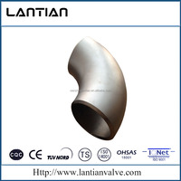 "3/4"" 40S ANSI B16.9 ASTM A403 WP304 WP316 Seamless Stainless Steel Drainage Pipe Fitting 90 degree Long Radius Elbow Bend"