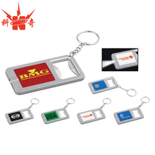 Customized metal led cheap bottle opener keychains
