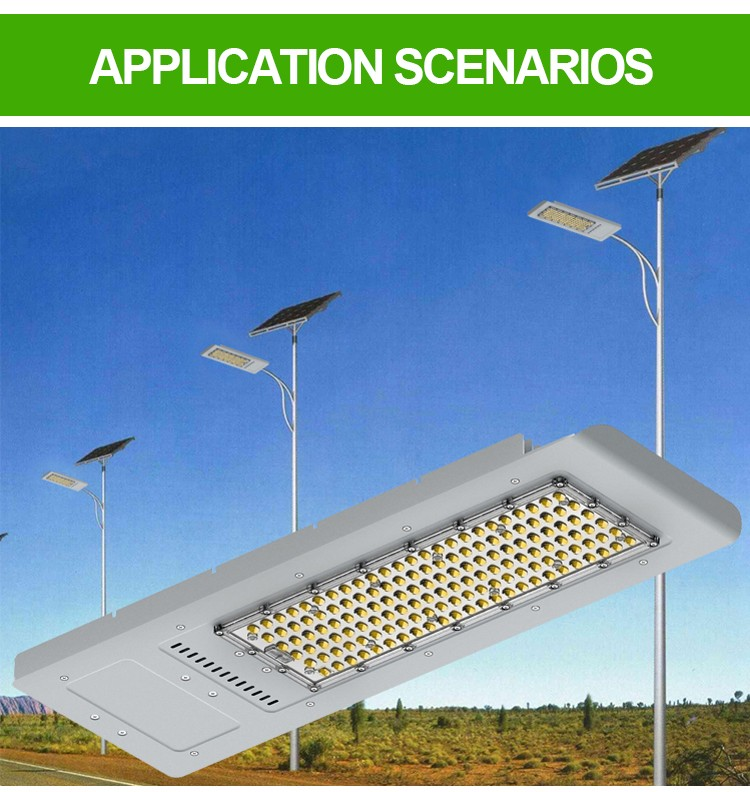 IP65 road lamp photocell most competitive solar led street light 80W 120W all in one Wifi