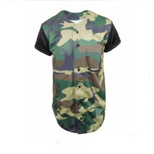 Custom Sublimation Men polyester Camo Baseball Jersey