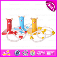 Cute Wooden ring toss game set EN71 certified,Outdoor and garden wooden quoit ring Toss set game W01A126