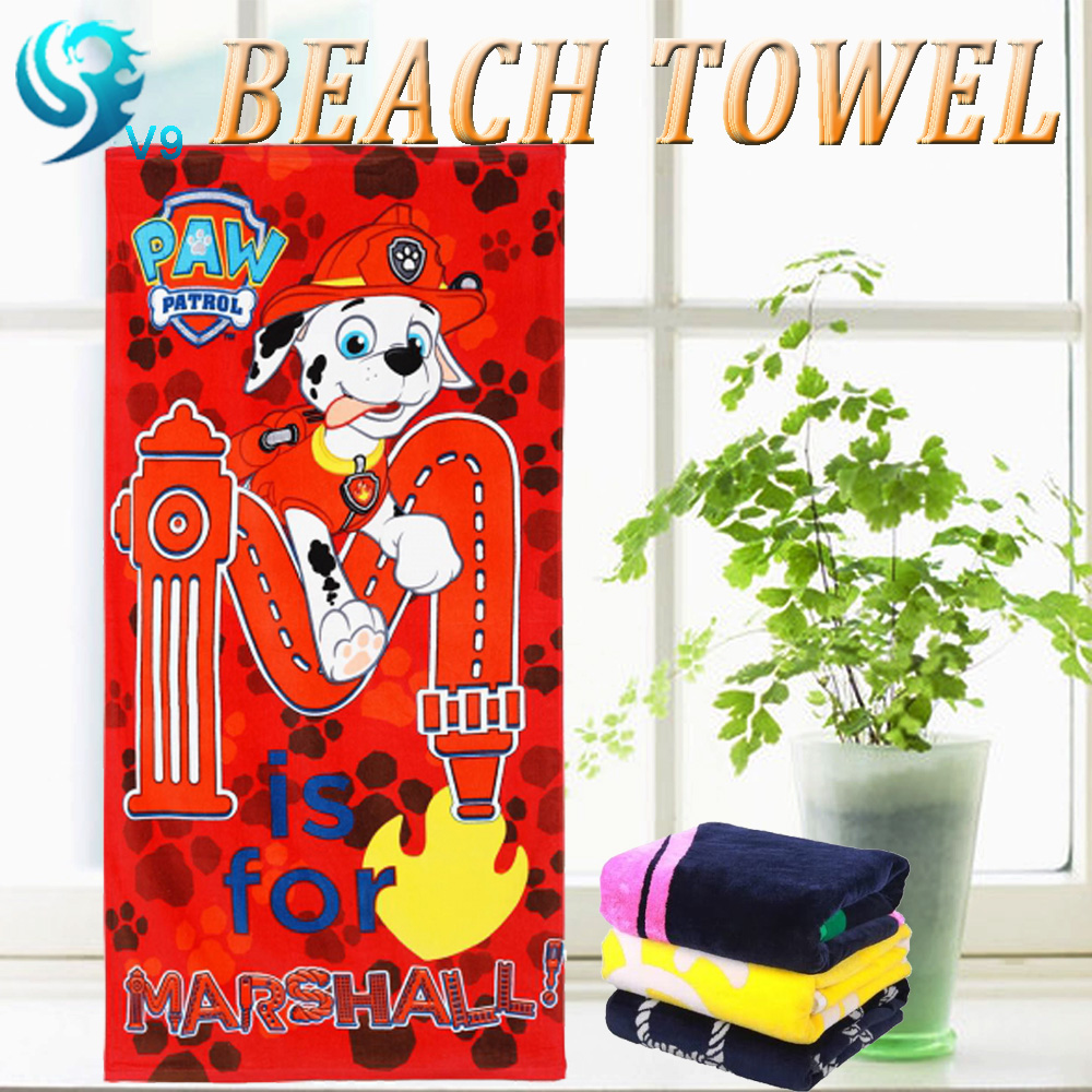 wholesale 100% cotton velour terry printed resort beach towel