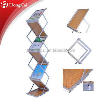 Folding Portable Shelf Catalogue Shelf