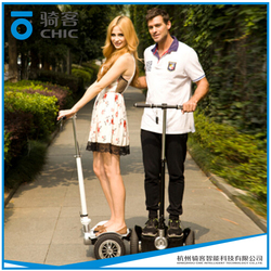 large self balancing electric standing scooter used by lots of people