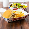 Disposable greaseproof white paper cardboard food tray for salad burger chips