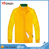 Brazil Yellow Tracksuit High Quality Soccer Winter Jacket