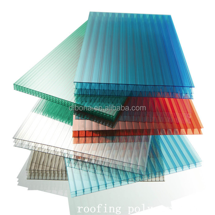 High quality UV protection Solid polycarbonate PC corrugated sheet for roofing tiles