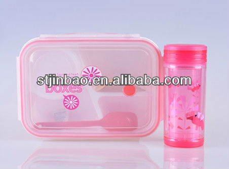 (soup cup and spoon included) plastic silicone lunch box keep food hot for school