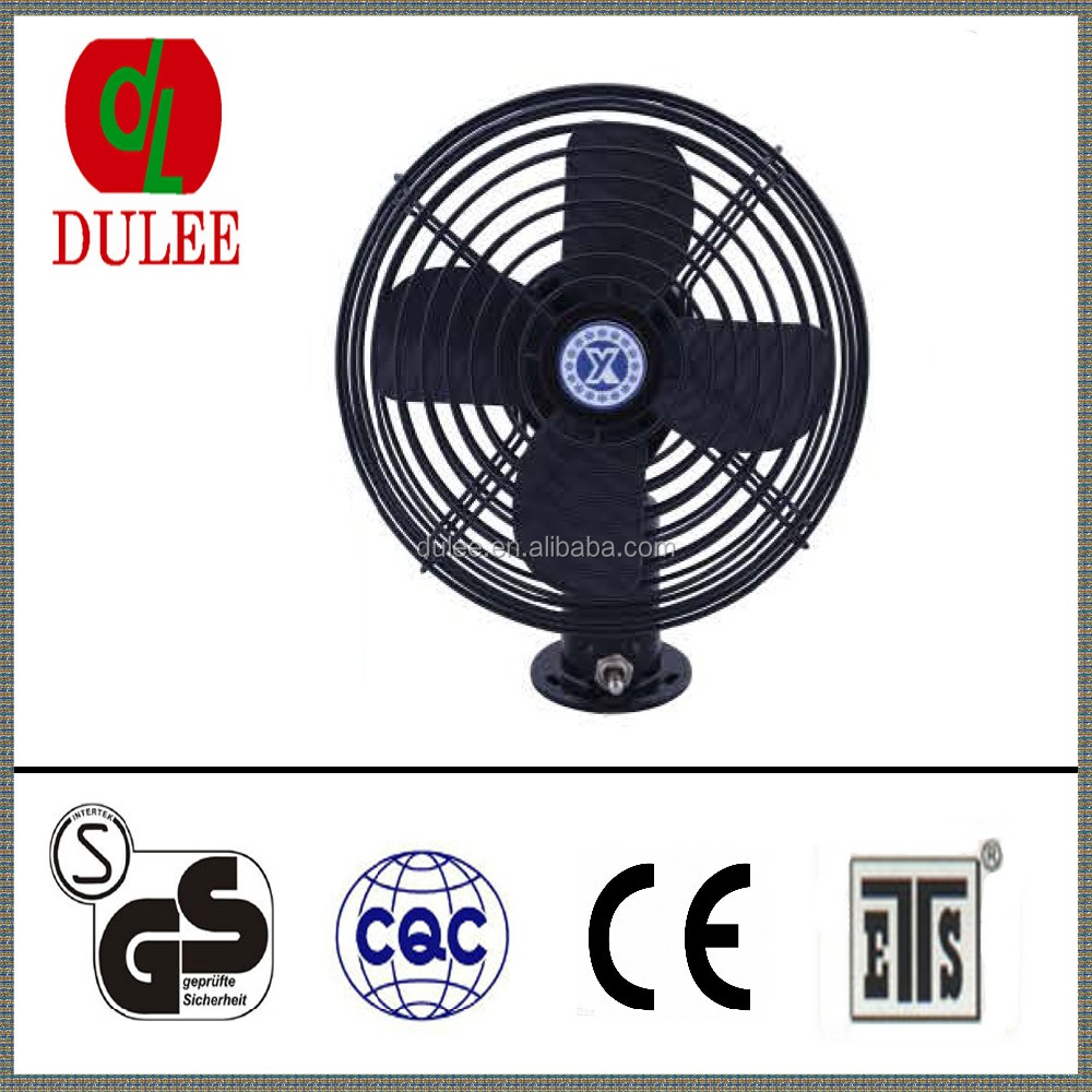 DULEE 8 Inch 12V or 24vScrew Mounting Oscillating High quality Car Fan