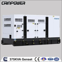 Chinpower 375KVA 300kw diesel electric power generator with canopy