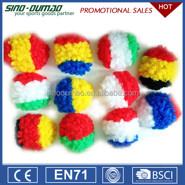 Promotional Products Football Sports Fans Cheering Synthetic France Wig