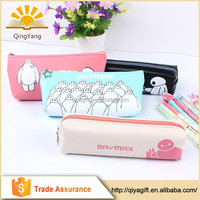 wholesale cheap customize pu cartoon baymax pencil case