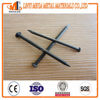 black concrete steel nails