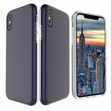 WinTop Blue PC Cover Ultra Clear Back Bumper Case for iPhone X