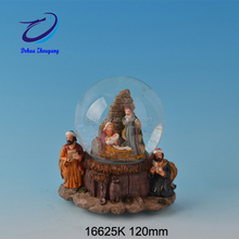 souvenirs Christmas gifts nativity themed resin glass snowball