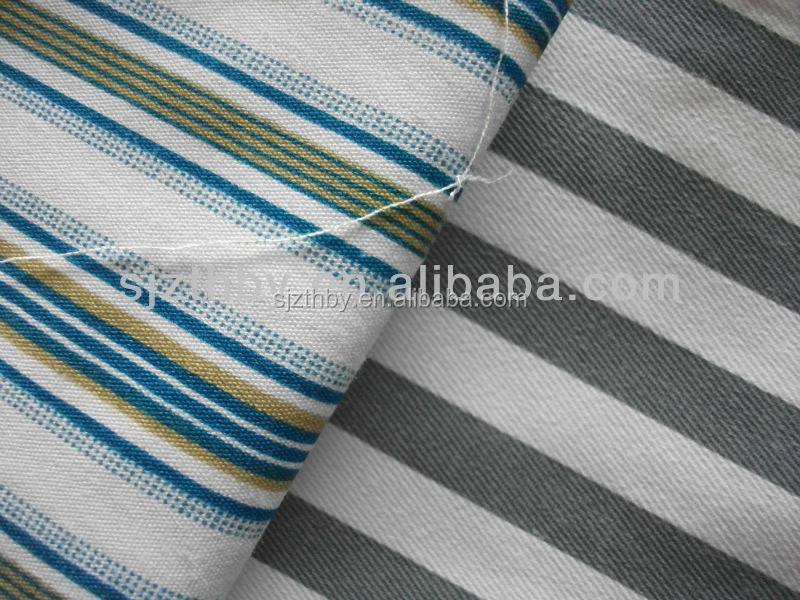 wholesale cotton black and white stripe fabric cotton fabric manufacturers