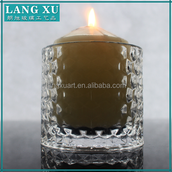 clear cylinder votive glass tumblers candle holder manufacturer