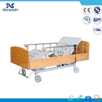 YXZ-C-008 Home Furniture Three Function 3 Motor Wooden Electric Hospital Bed
