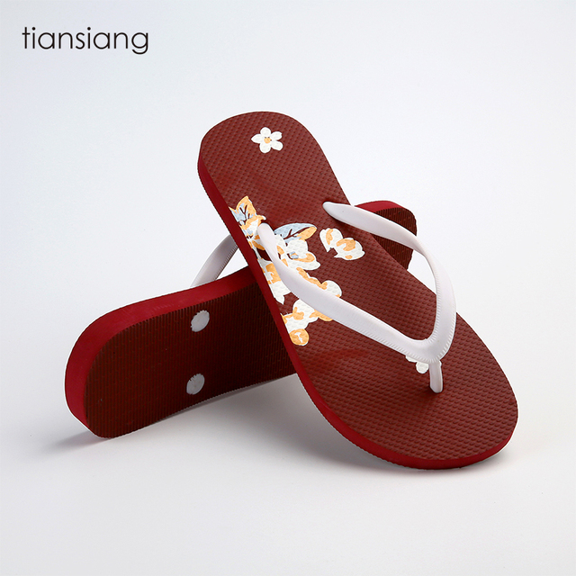 wholesale women ladies medicated summer flip flops slippers from china