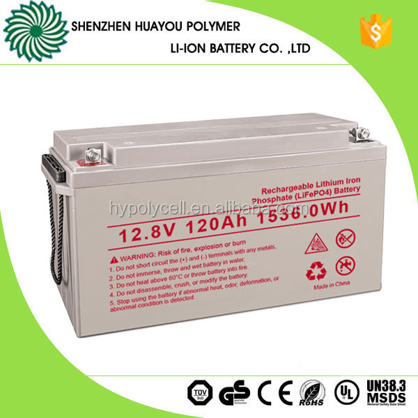 120Ah Depp Cycle 12V Lithium Iron Phosphate Battery for Power supply